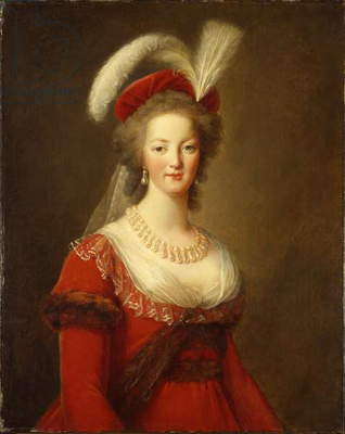 Portrait of Marie Antoinette, Queen of France (oil on canvas)