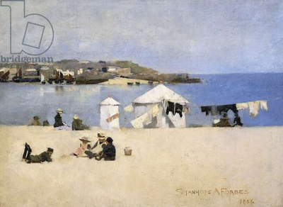 Children on the Beach, St. Ives, 1886 (oil on canvas)