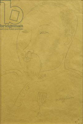 Guillaume Apollinaire as a Soldier; Guillaume Apollinaire en Soldat, (pencil on paper)