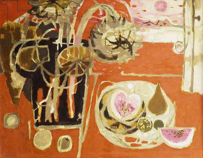 Still Life IV; On a Red Ground, 1962 (oil on board)