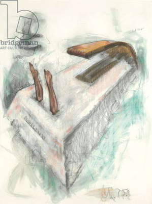 Tomb Design, for Marilyn Monroe, Second Version, 1975 (crayon, graphite and watercolour on paper)