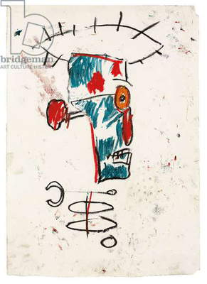 Portrait of Keith Haring, c.1984 (oilstick on paper)