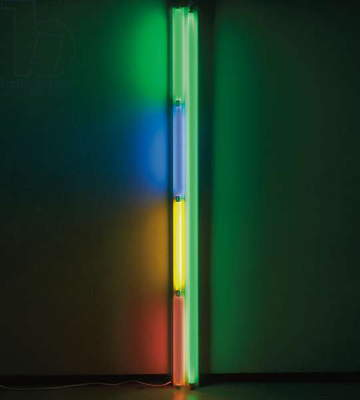Untitled, 1985 (green, blue, pink and yellow flourescent light)