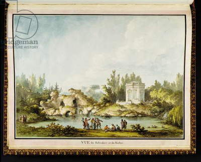 Vue du Belvédère et du Rocher, from Recueil des plans du Petit Trianon by Richard Mique (1728-94), 1781 (ink & w/c on paper)