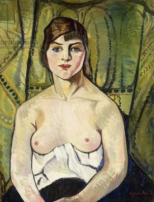 Woman with Bare Breasts (Self Portrait); Femme aux Seins Nus (Autoportrait), 1917 (oil on canvas)