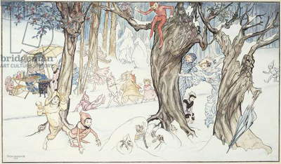 Winter Frolic, 1924 (watercolour and pen and black ink on paper)
