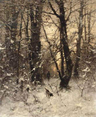 Winter Twilight, 1891 (oil on panel)
