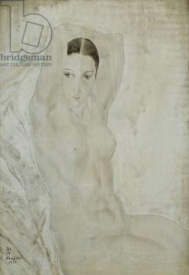 Nude with Raised Arms; Nu aux Bras Leves, 1925 (thinned oil on canvas)