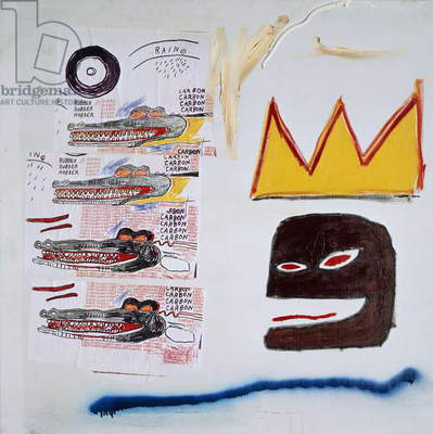 Untitled, 1984 (acrylic, spraypaint, oilstick and paper collage on canvas)