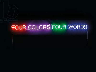 Four Colors Four Words, 1966 (neon and transformer)