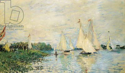 Regatta at Argenteuil, 1874 (oil on canvas)