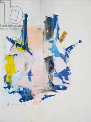 Woman V, 1961 (oil on paper)