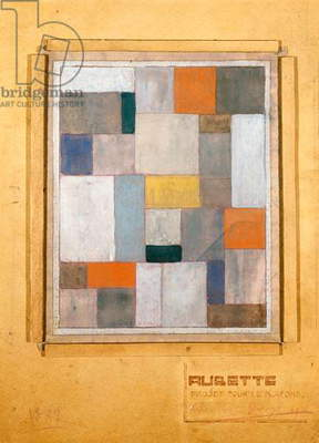 Aubette, design for the Stage, for Le Plafond, 1926 (gouache & pencil on tracing paper mounted by the artist on board)