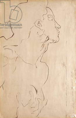 Study for 'Feeling I', 1901 (India ink on paper)