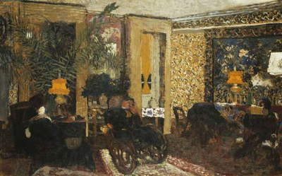 Room with Three Lamps, Rue St. Florentin; Le Salon aux Trois Lampes, Rue St. Florentin, 1899 (oil on paper laid down on canvas)