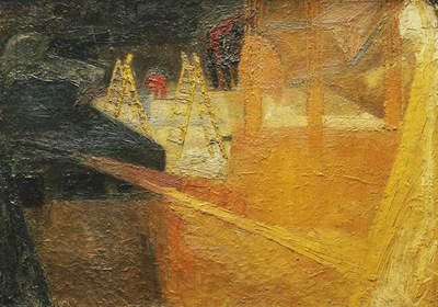 Summer Building Site, 1952 (oil on board)