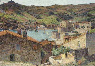 The Village of Collioure with a View of the Port,  (oil on canvas)