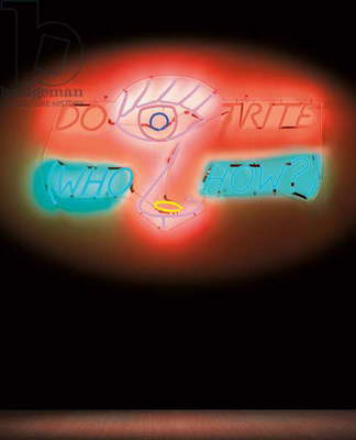 Do It Right, 1982 (orange, green, red, blue, pink and yellow neon tubing with clear)