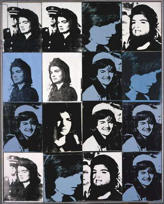 Sixteen Jackies, 1964 (synthetic polymer & silkscreen ink on canvas)