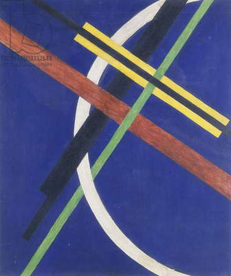 Architektur I, 1922 (oil and silver paint on canvas)