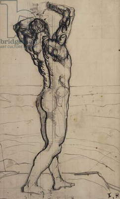Male Act, Study for the Truth, c.1901-02 (pencil & Indian ink on paper)