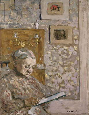 Mme Vuillard with a Tapestry, c.1910 (oil on board)