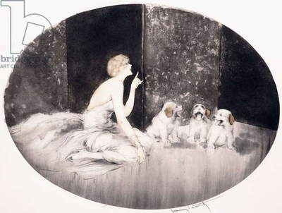 Singing Lesson,  (etching and aquatint, printed in colours)