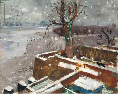 Snow at Durham Wharf, 1946 (oil on canvas)