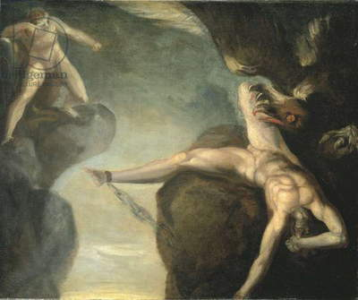 Prometheus freed by Hercules, 1781-85 (oil on canvas)