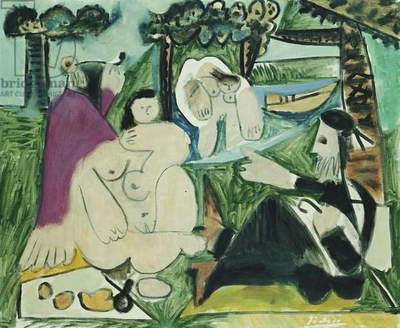 Luncheon on the Grass; Dejeuner sur l'Herbe, 1960 (oil on canvas)