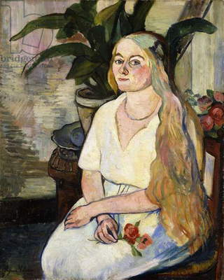 Portrait of Germaine Utter, 1922 (oil on canvas)