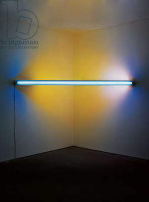 Untitled (to Ileana and Michael Sonnabend), 1970 (blue, yellow and pink fluorescent light)