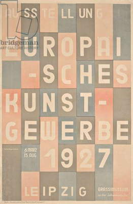 Poster for the 1927 Leipzig Trade Art Show, 1927 (colour lithograph)