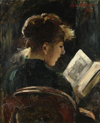 Woman Reading; Lesendes Madchen, 1888 (oil on canvas)