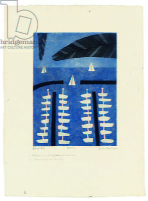 Antibes, 1974 (colour etching & aquatint)