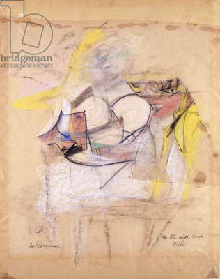 Woman, c.1953 (pastel, charcoal, pencil and vellum collage on vellum)