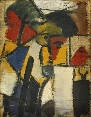 Head; Tete, 1914 (oil on canvas)