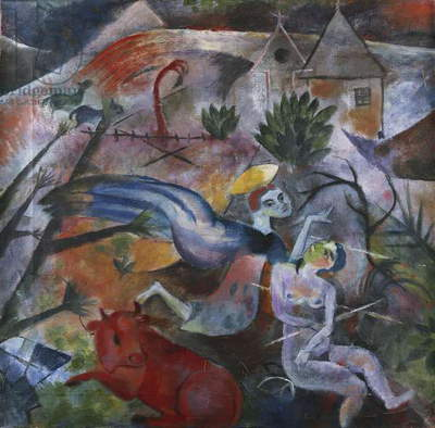 Annunciation; Verkundigung, 1917 (oil on canvas)
