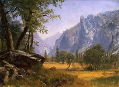 Yosemite Valley (oil on board)