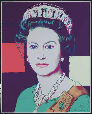 Queen Elizabeth II of the United Kingdom, from 'Reigning Queens', 1985 (colour screenprint on Lenox museum board)