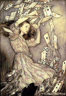 Illustration from 'Alice's Adventures in Wonderland' by Lewis Carroll (1832-98) 1907