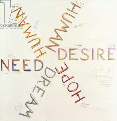 Human Need Desire, 1983 (watercolour and graphite on paper)