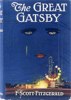 Front cover for the first edition of 'The Great Gatsby' by F. Scott Fitzgerald, 1925 (colour pictorial dust jacket)