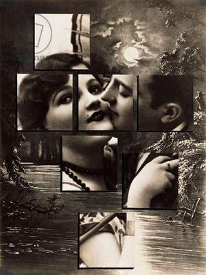 The Kiss, 1932 (gelatin silver print photomontage, with gouache and ink)