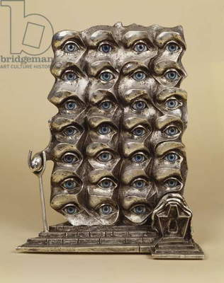 Surrealist Eyes, 1980 (bronze patina with silver)