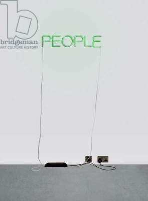 Work No. 376 - People, 2004 (green neon)
