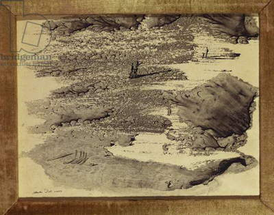 Surrealist Landscape, 1936 (black ink on paper)