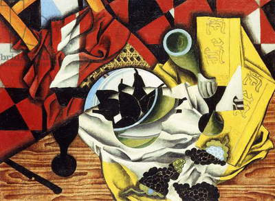 Pears and Grapes on a Table; Poires et Raisins sur une Table, 1913 (oil on canvas)