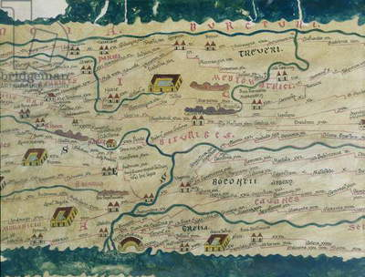 Detail of Roman Gaul from the Peutinger map copy (see also 172432)