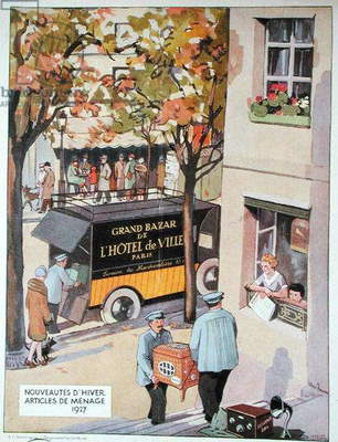 Advertisement for 'Grand Bazar de l'Hotel de Ville', 1927 (colour litho)